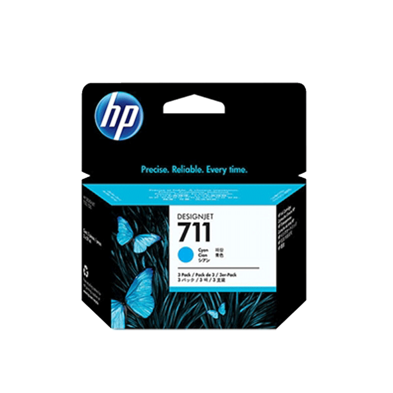 HP711 インクカートリッジ シアン 29ml x3 CZ134A